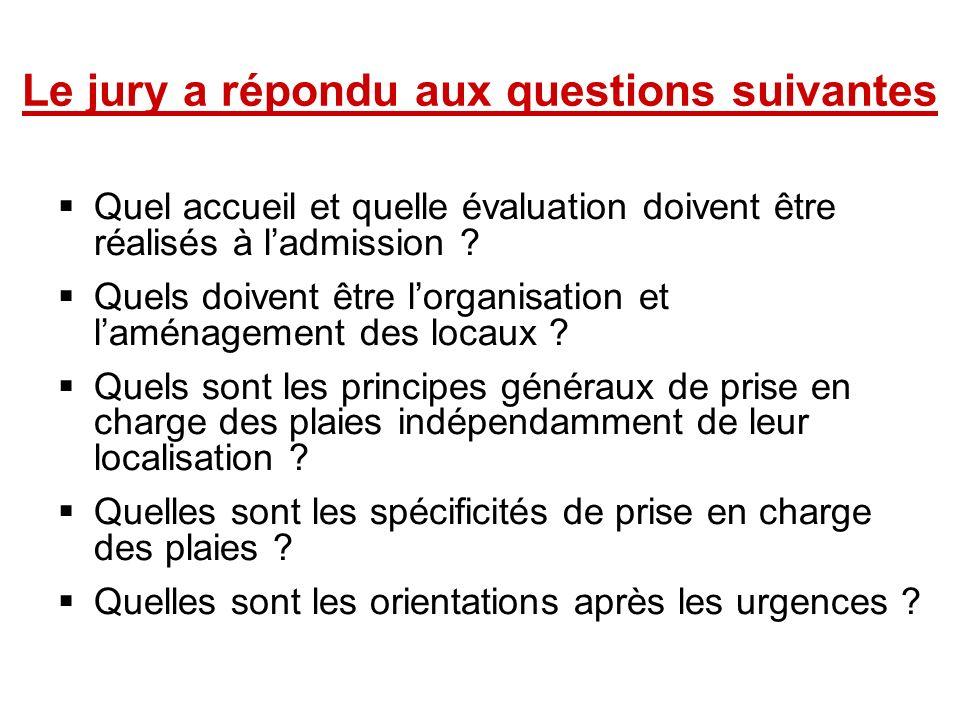 Le jury a répondu aux questions suivantes Quel accueil et quelle évaluation doivent être réalisés à ladmission ? Quels doivent être lorganisation et l