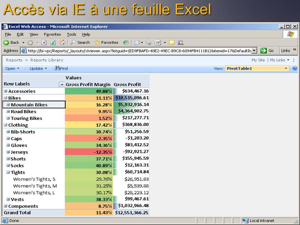 Accès via IE à une feuille Excel
