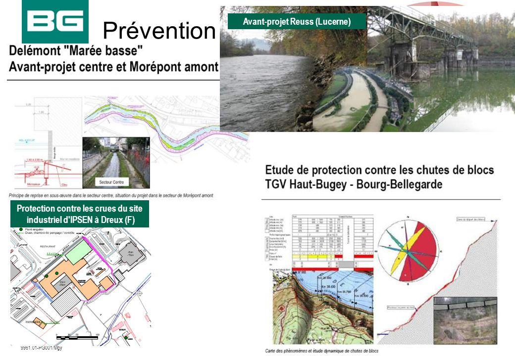 09.12.20098 9961.01-PG001/Mgy Prévention Protection contre les crues du site industriel d'IPSEN à Dreux (F) Avant-projet Reuss (Lucerne)