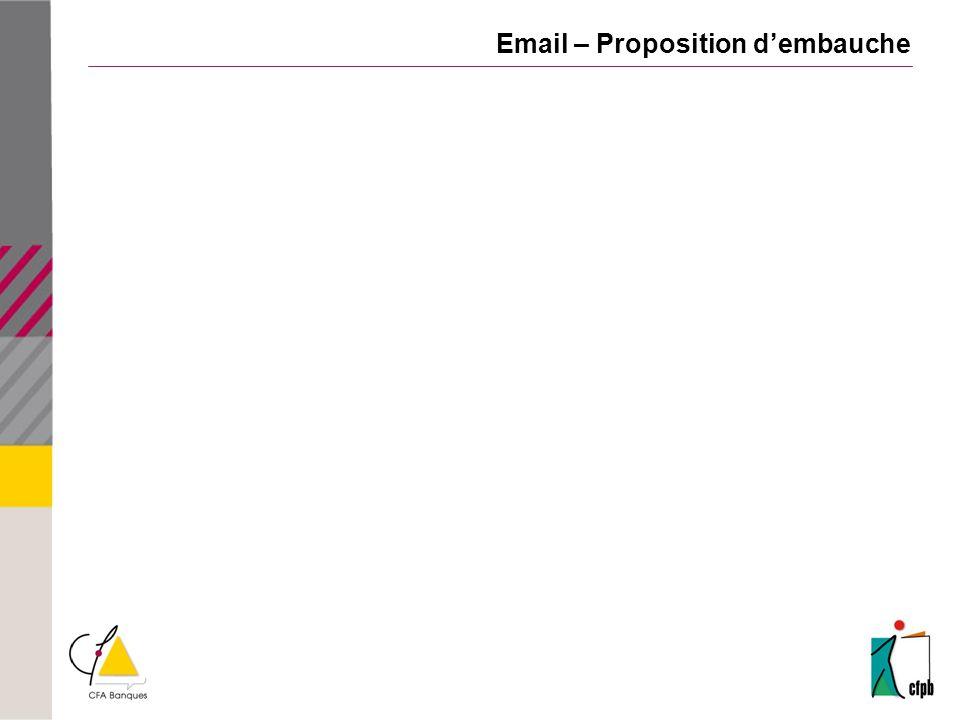 Email – Proposition dembauche