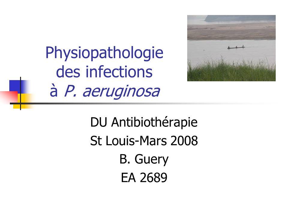 Surmortalité et SST III SSTT [+]SSTT [-] Mortalité21%3% RR décès PcrV seule7,4 PcrV + toxine(s)8,7 (Roy Burman et al, J Infect Dis.