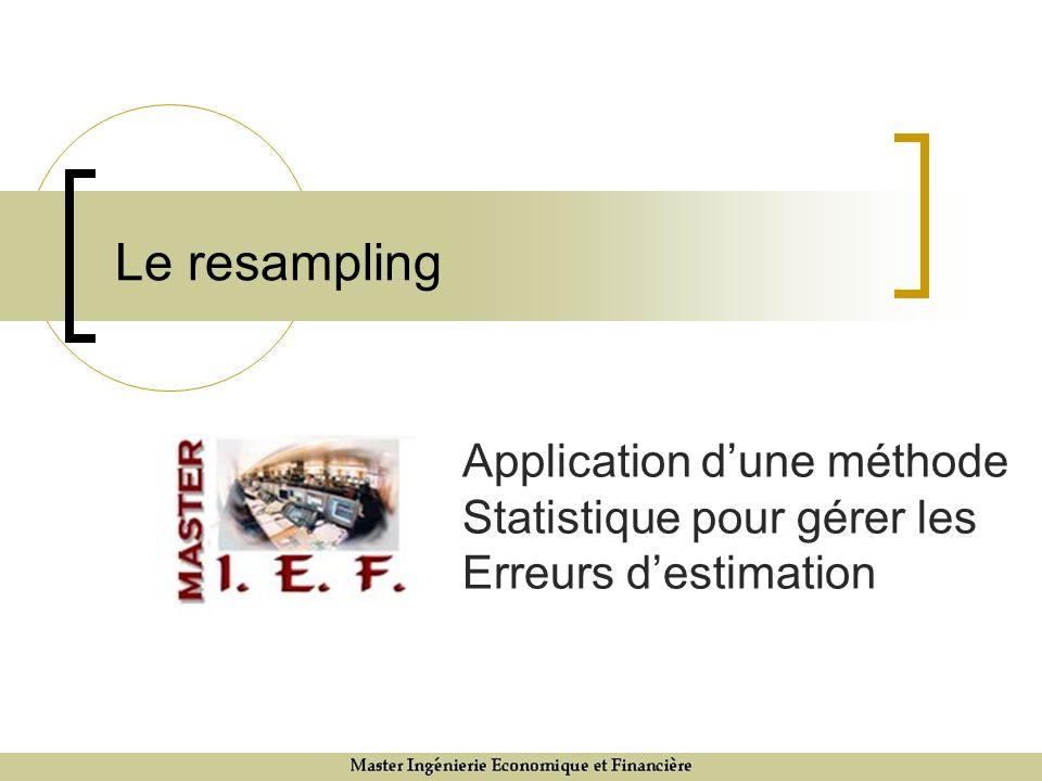 Critique du resampling (2) En labsence dopinions, le resampling conduit à des écarts par rapport au benchmark et donc à une gestion active – mais pourquoi prendre un pari sans avoir de raisons ou dopinions.