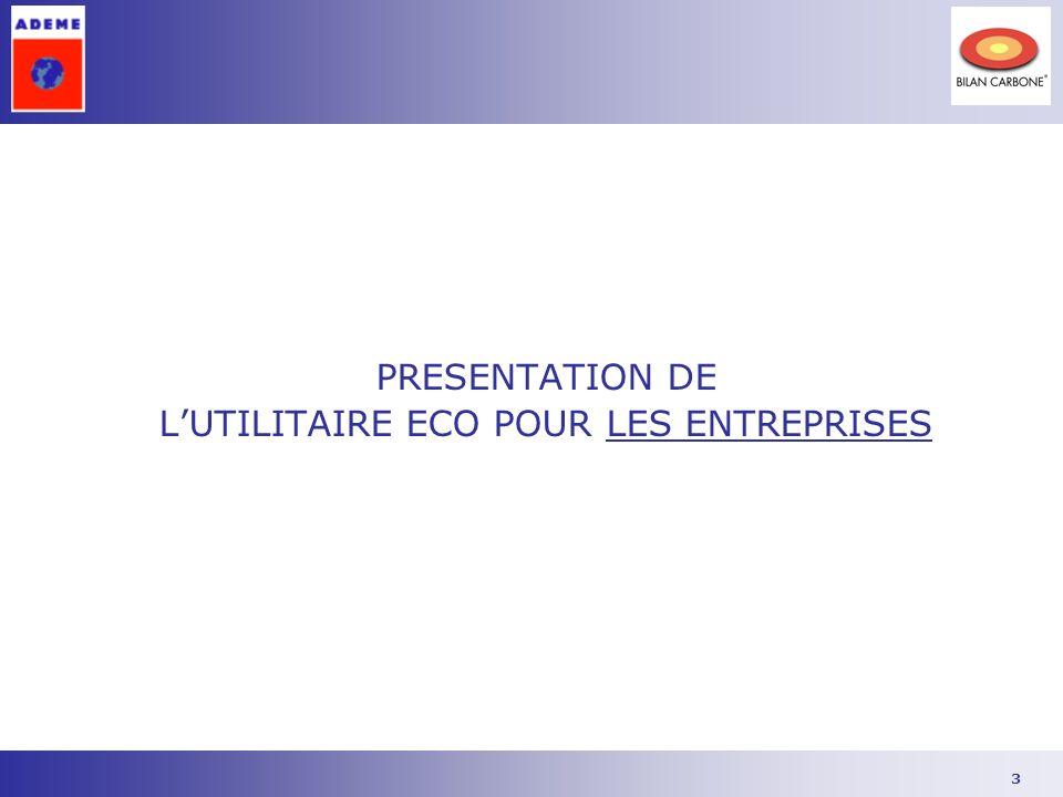 3 PRESENTATION DE LUTILITAIRE ECO POUR LES ENTREPRISES