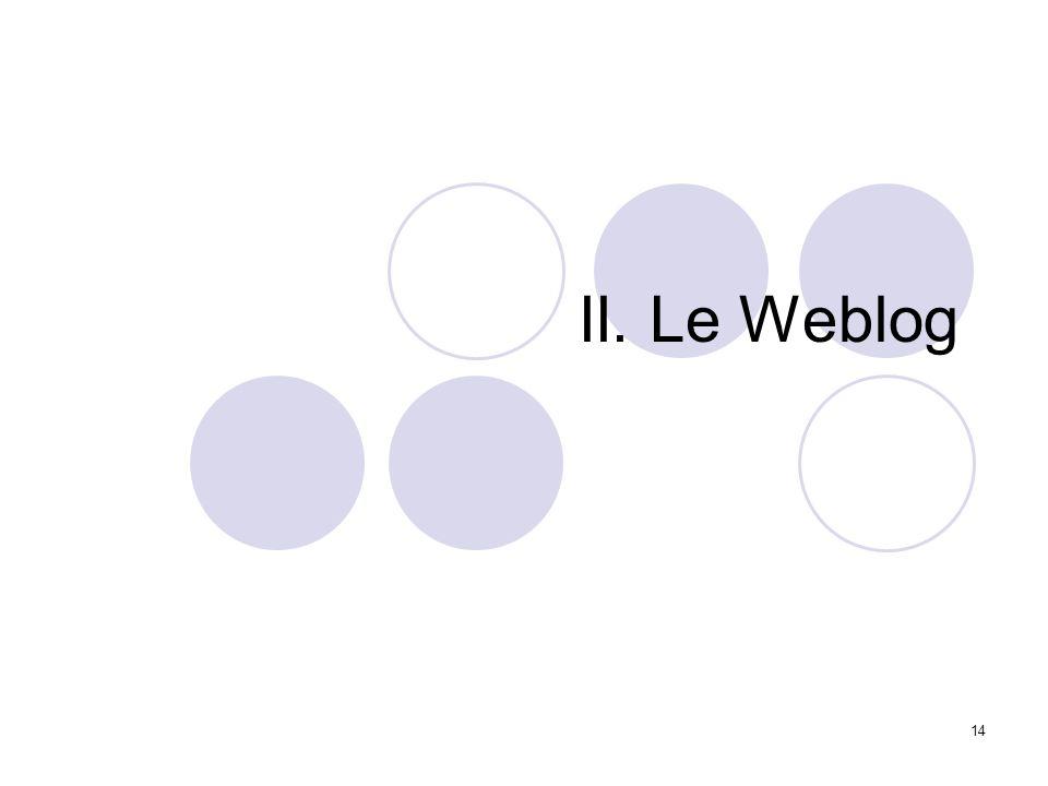 14 II. Le Weblog