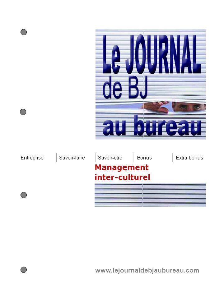 Management inter-culturel www.lejournaldebjaubureau.com EntrepriseSavoir-faireSavoir-êtreBonusExtra bonus
