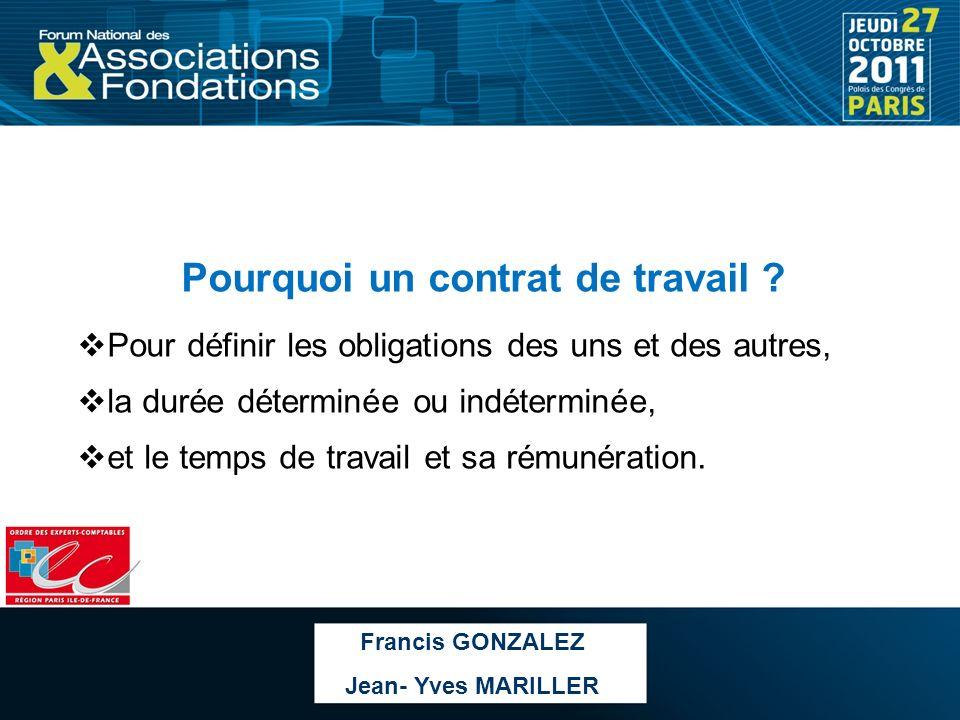 Caractéristiques dun contrat de travail : La fourniture dun travail, le paiement dune rémunération, lexistence dun lien de subordination juridique.
