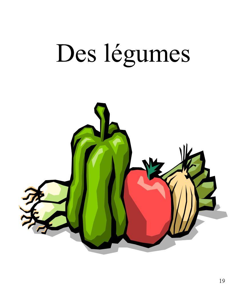19 Des légumes