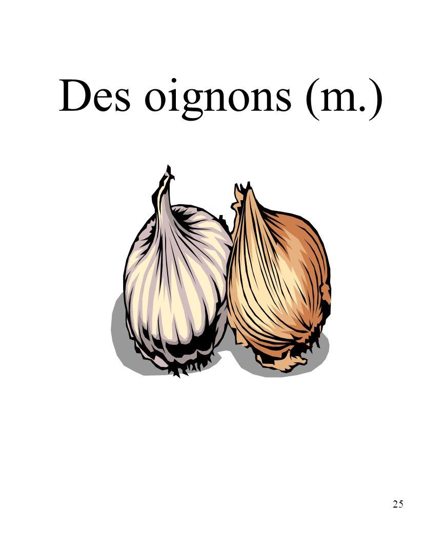 25 Des oignons (m.)