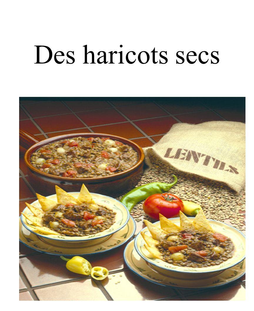 29 Des haricots secs
