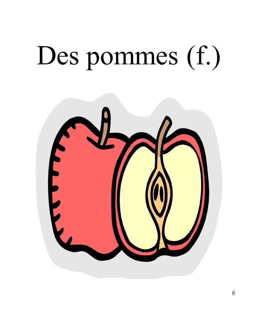 6 Des pommes (f.)