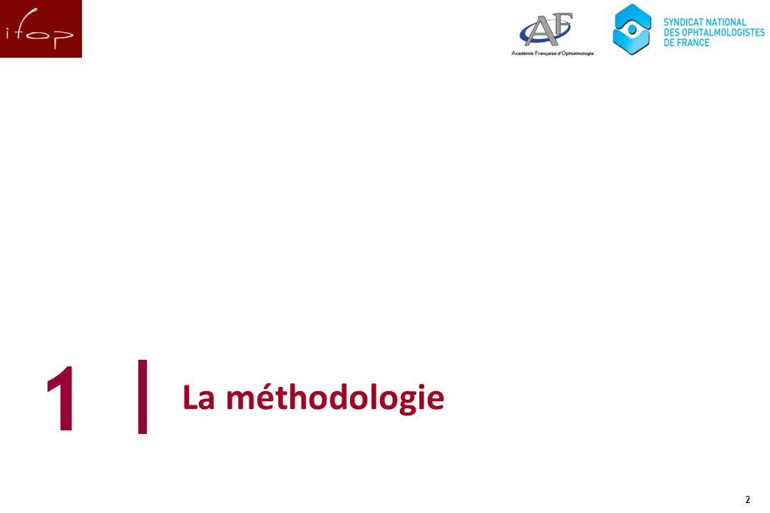 2 La méthodologie 1 2