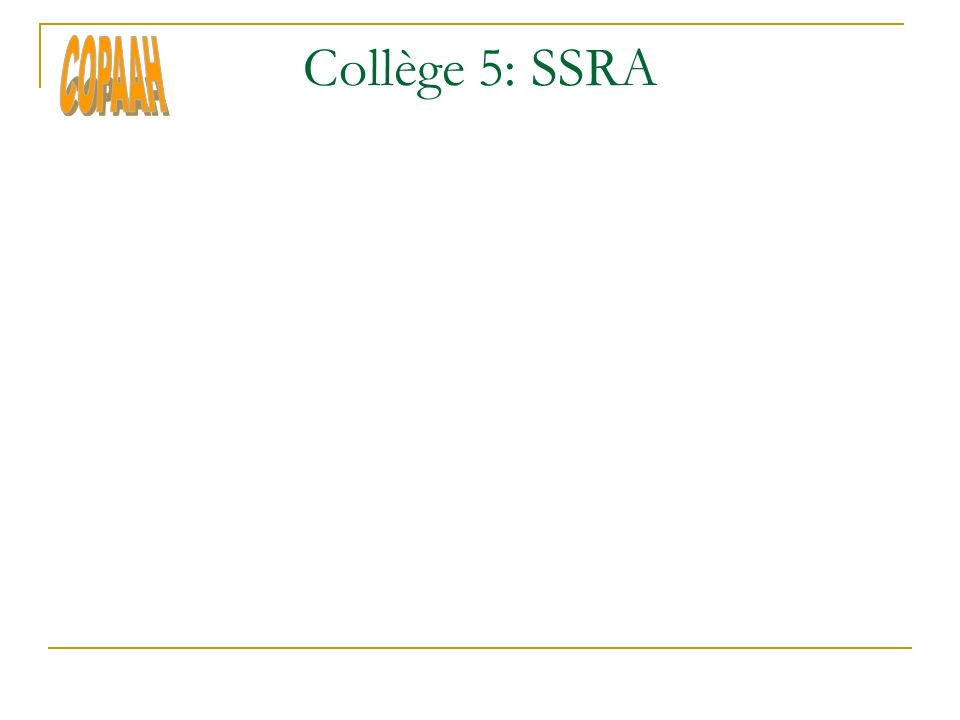 Collège 5: SSRA