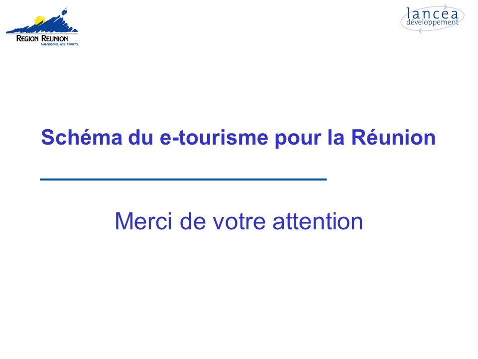 Schéma du e-tourisme pour la Réunion Merci de votre attention