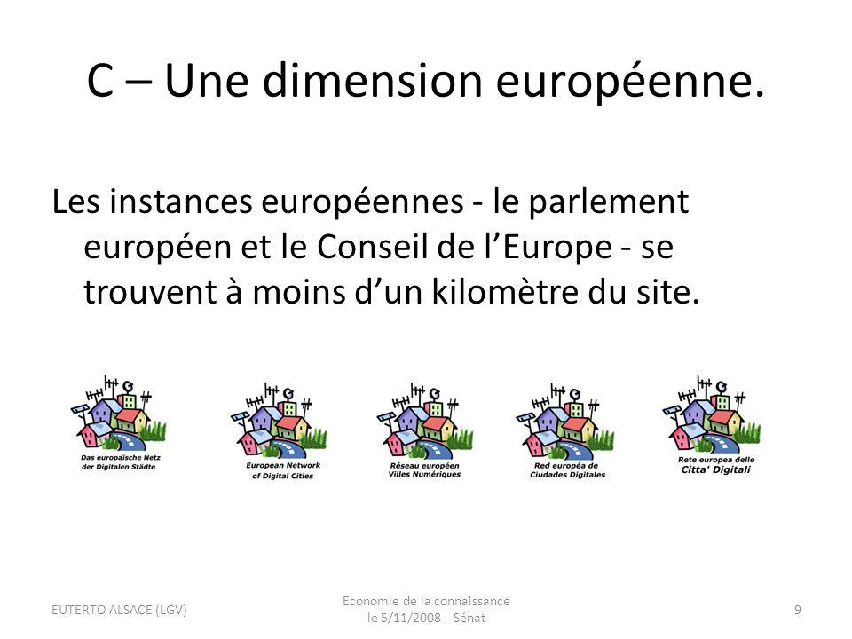D - Une dimension internationale.