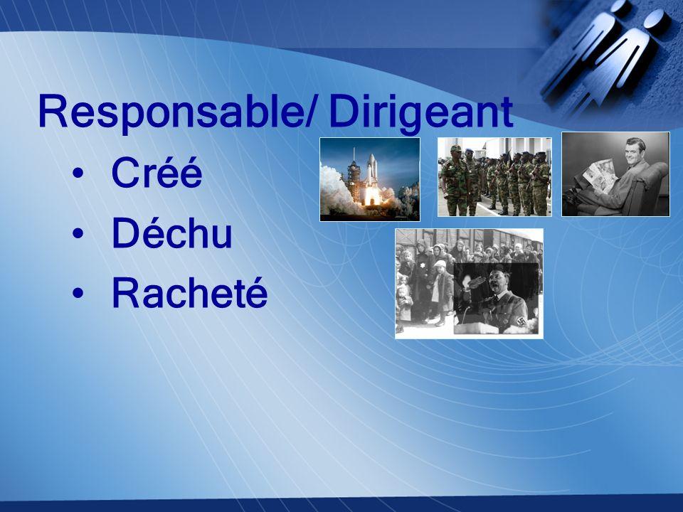 Responsable de son domaine Créée Déchue Rachetée