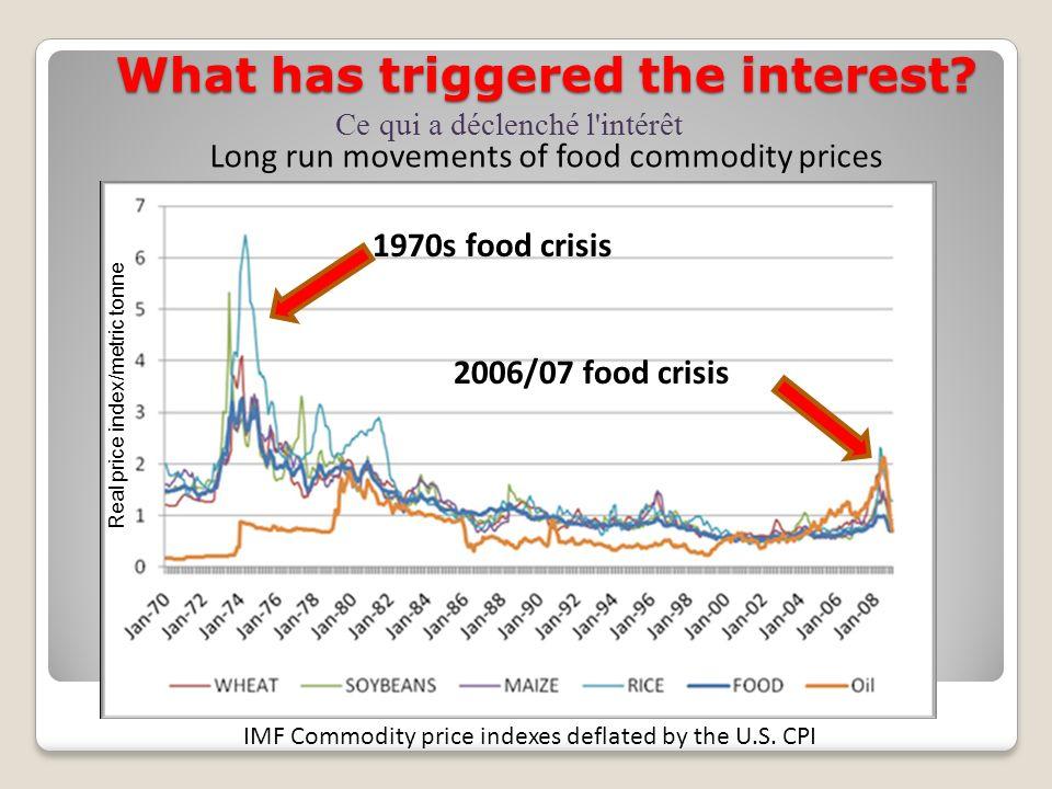 In developing countries, for every 1% increase in food prices, food purchases decrease by 0.75% (FAO 2006) Food riots - 2006 Émeutes alimentaires Dans les pays en voie de développement, pour chaque augmentation de 1% des prix de denrées alimentaires, les achats de aliment diminuent de 0.75% (FAO 2006)