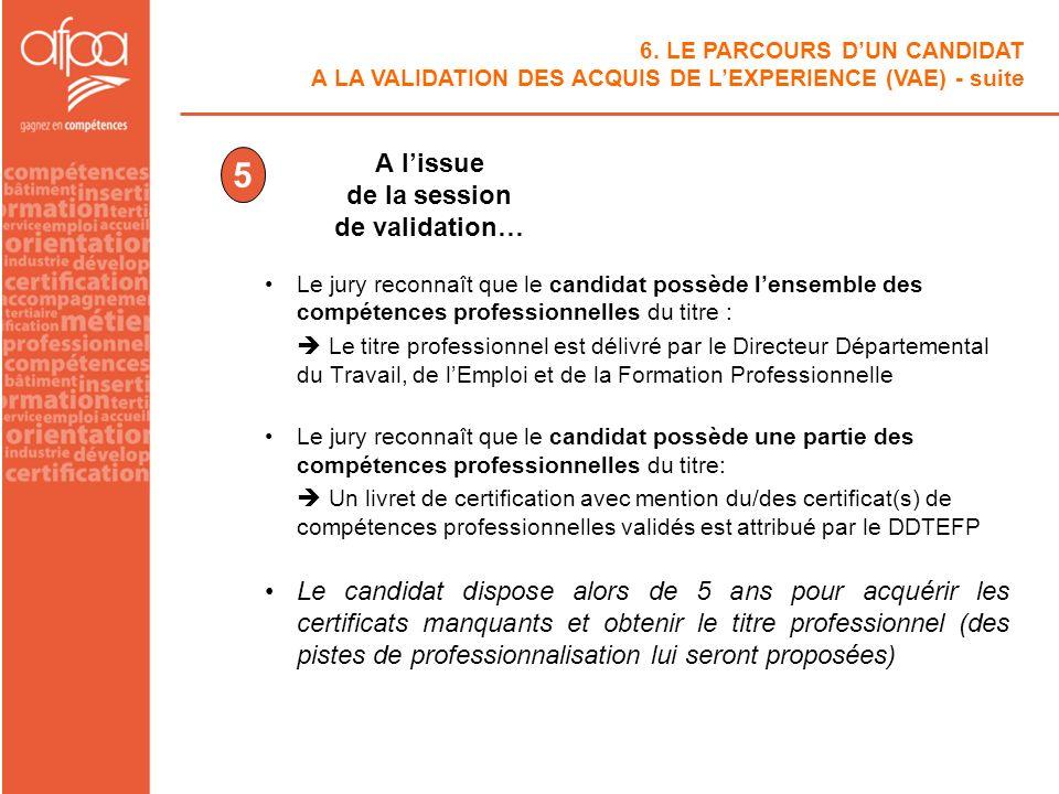 Le jury reconnaît que le candidat possède lensemble des compétences professionnelles du titre : Le titre professionnel est délivré par le Directeur Dé