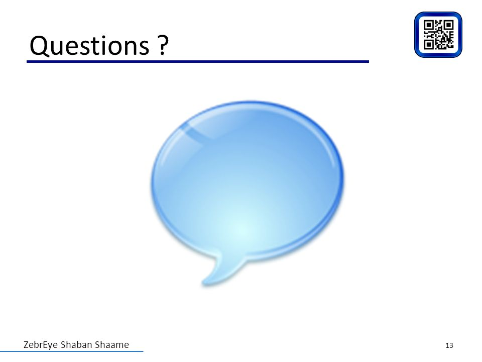 ZebrEye Shaban Shaame Questions ? 13