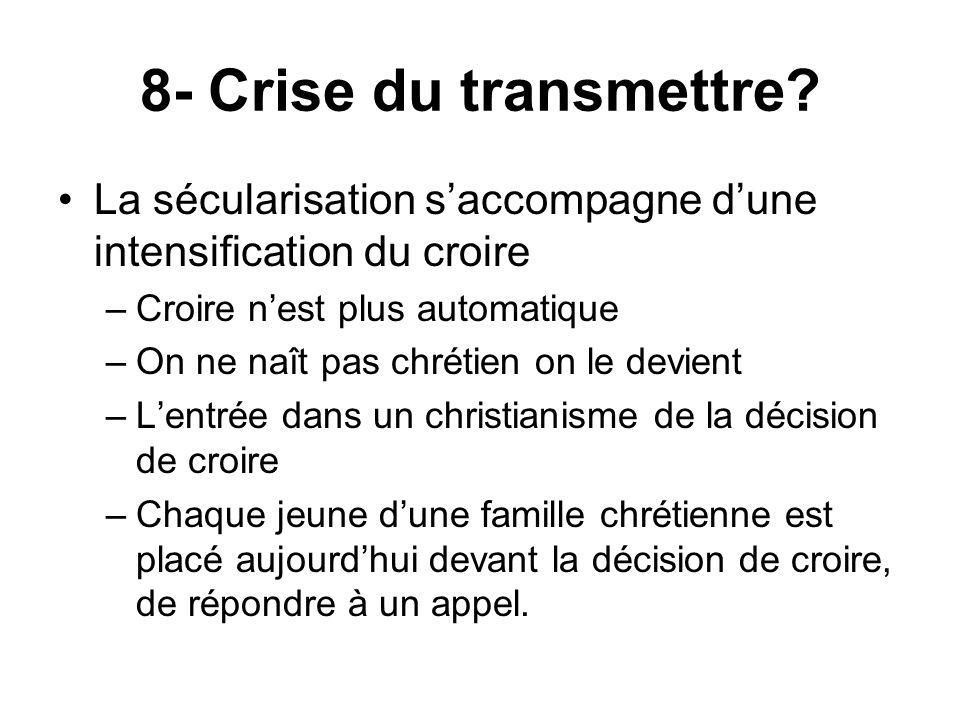 8- Crise du transmettre.
