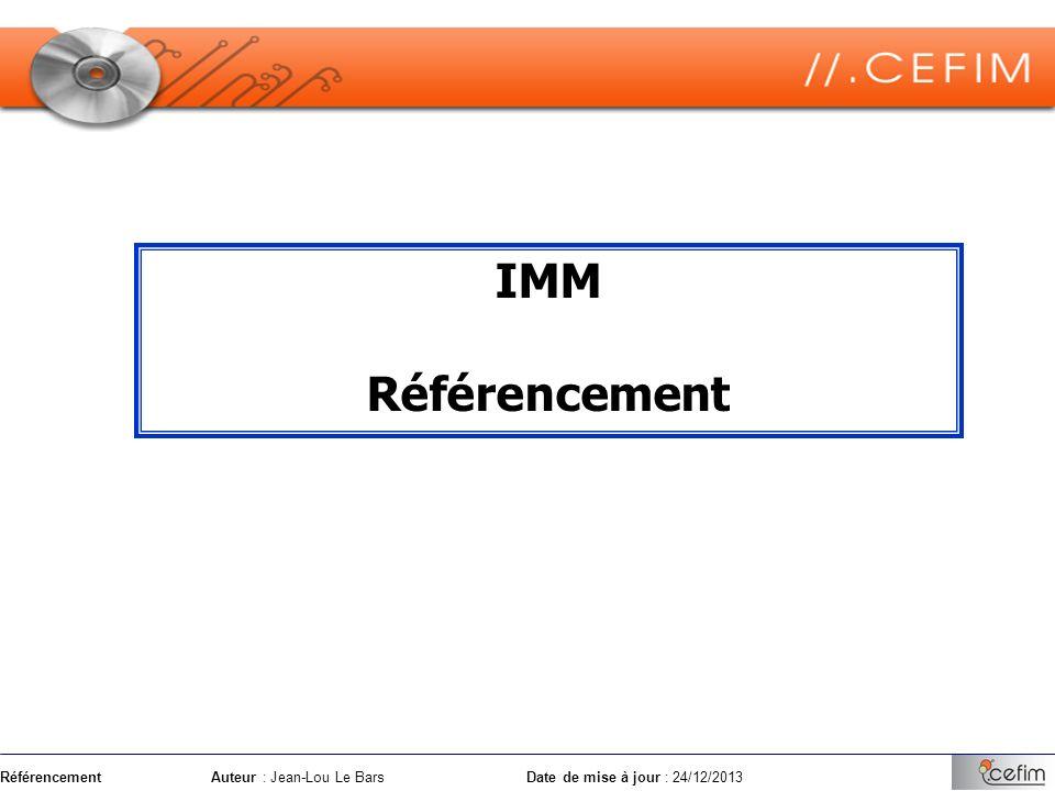 RéférencementAuteur : Jean-Lou Le Bars Date de mise à jour : 24/12/2013 Le SEO comprend les techniques permettant daméliorer le positionnement dune page web.