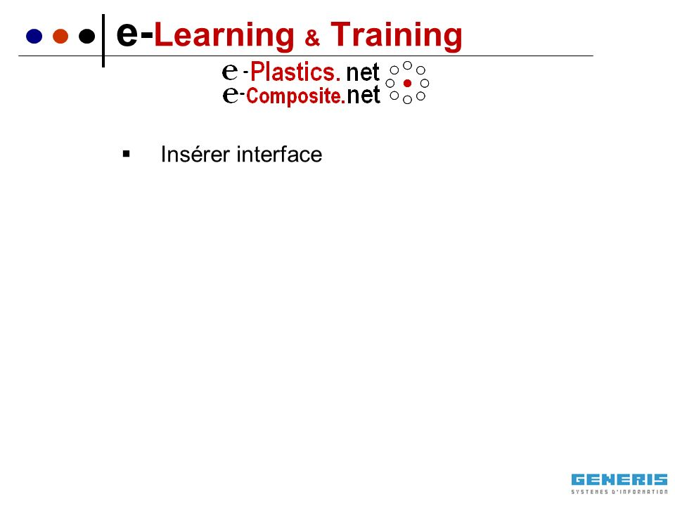 Insérer interface e- Learning & Training
