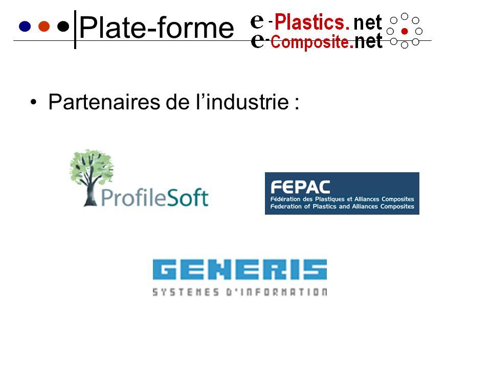 Plate-forme Partenaires de lindustrie :