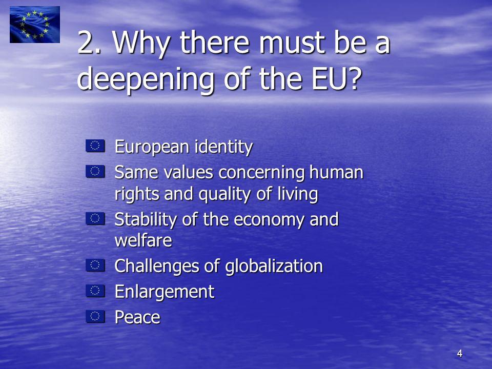 5 3.1.Reforms towards a more democratic EU 3.2. Economical aspects 3.3.