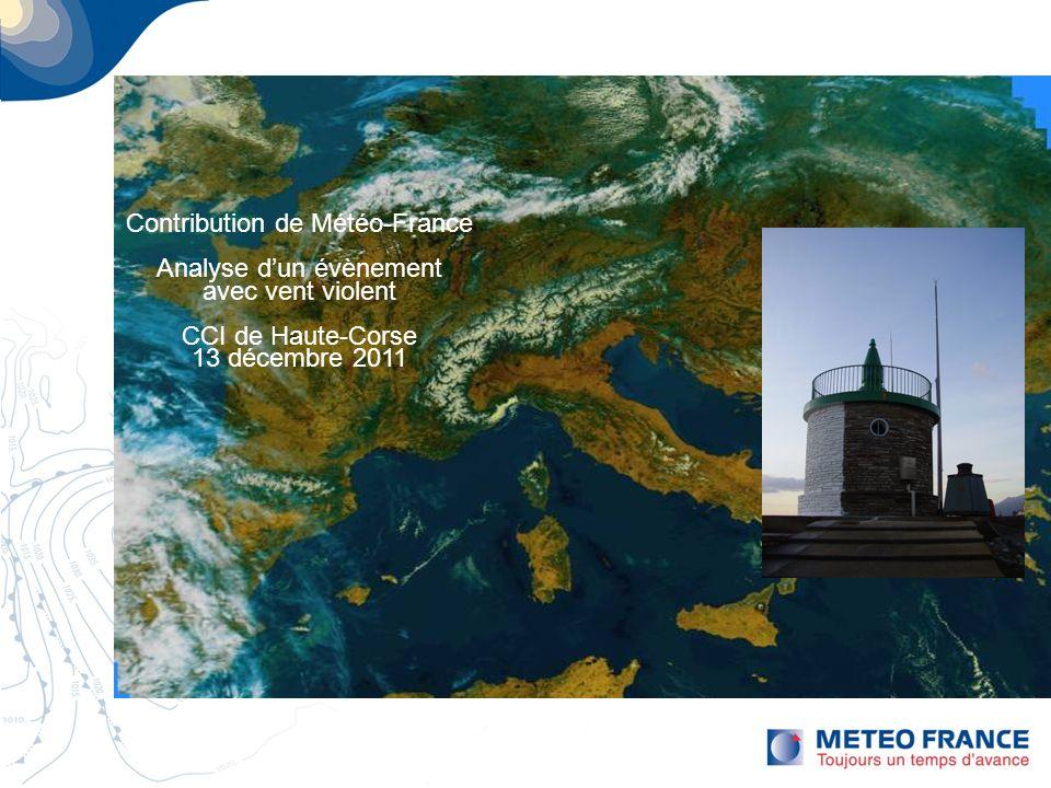 Page 1 Contribution de Météo-France Analyse dun évènement avec vent violent CCI de Haute-Corse 13 décembre 2011