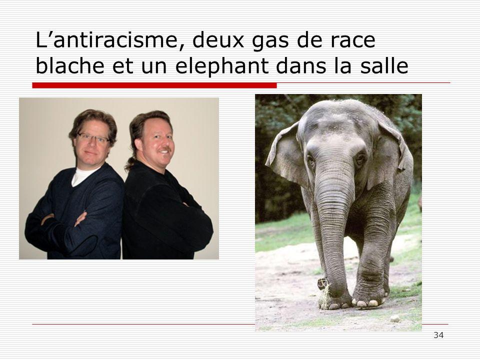 Lantiracisme, deux gas de race blache et un elephant dans la salle 34