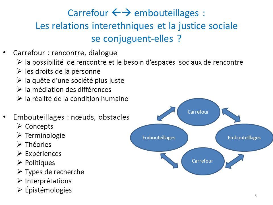 Carrefour embouteillages : Les relations interethniques et la justice sociale se conjuguent-elles .