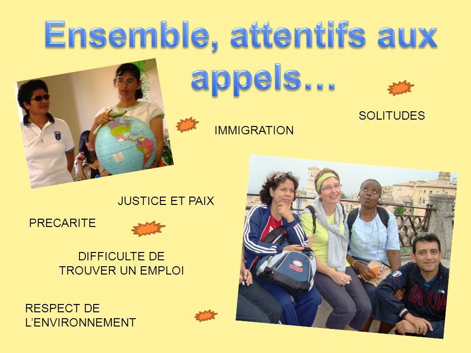 IMMIGRATION PRECARITE JUSTICE ET PAIX RESPECT DE LENVIRONNEMENT DIFFICULTE DE TROUVER UN EMPLOI SOLITUDES