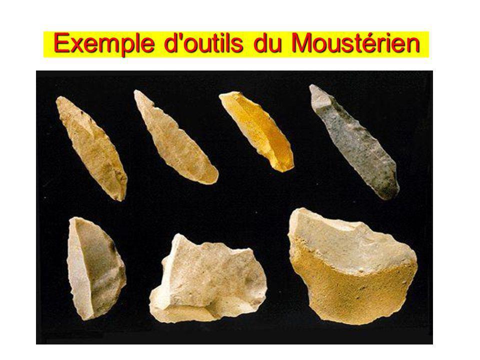 Exemple d'outils du Moustérien