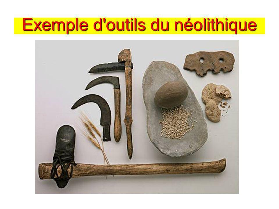 Exemple d'outils du néolithique