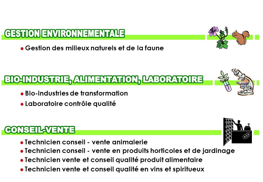 Technicien conseil - vente animalerie Technicien conseil - vente en produits horticoles et de jardinage Technicien vente et conseil qualité produit al