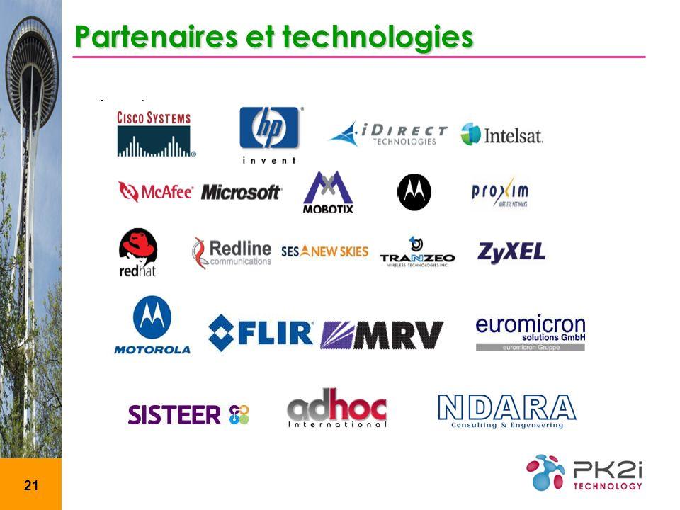 21 Partenaires et technologies