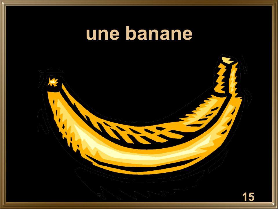 15 une banane