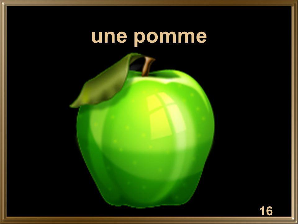 16 une pomme