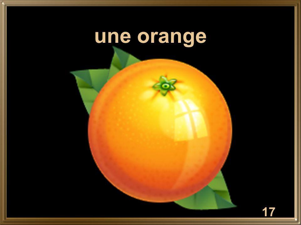 17 une orange