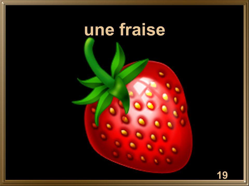 19 une fraise