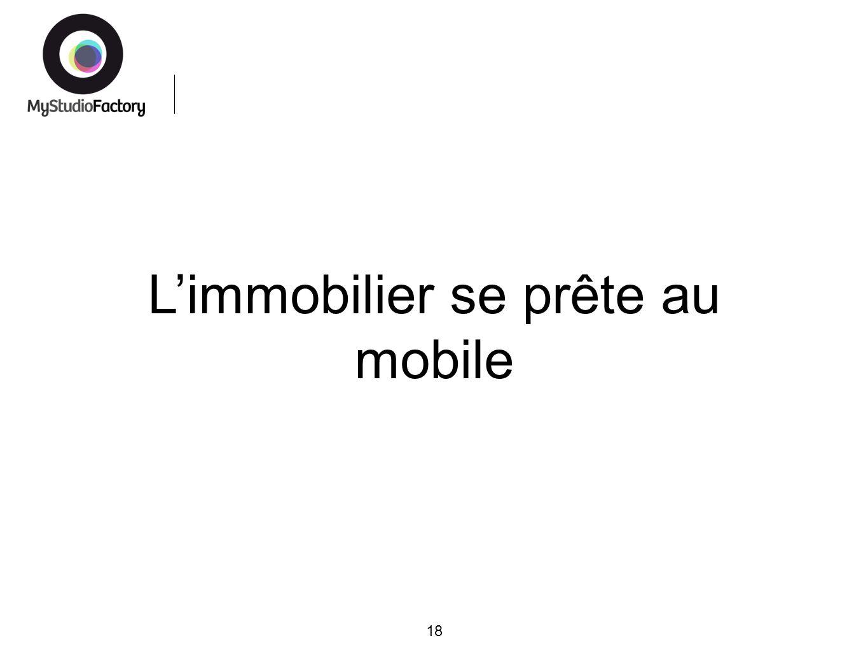 Limmobilier se prête au mobile 18