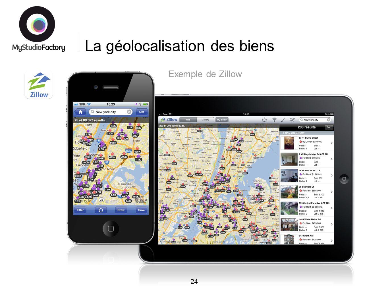 La géolocalisation des biens 24 Exemple de Zillow