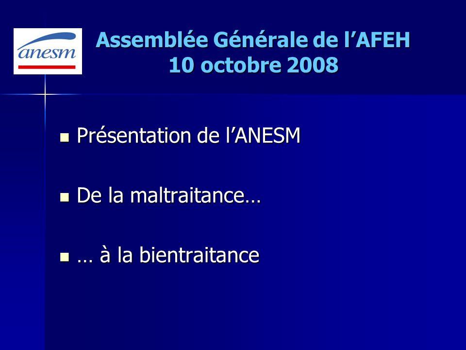 Agence Nationale de lEvaluation et de la Qualité des établissements et services sociaux et médico-sociaux ANESM Présentation