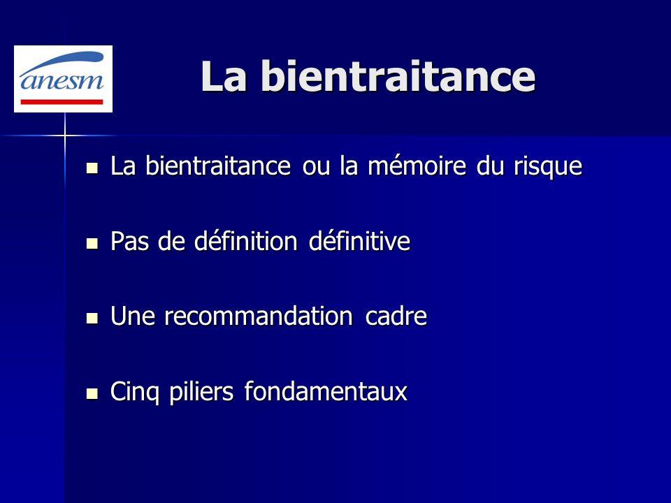 La bientraitance La bientraitance ou la mémoire du risque La bientraitance ou la mémoire du risque Pas de définition définitive Pas de définition défi