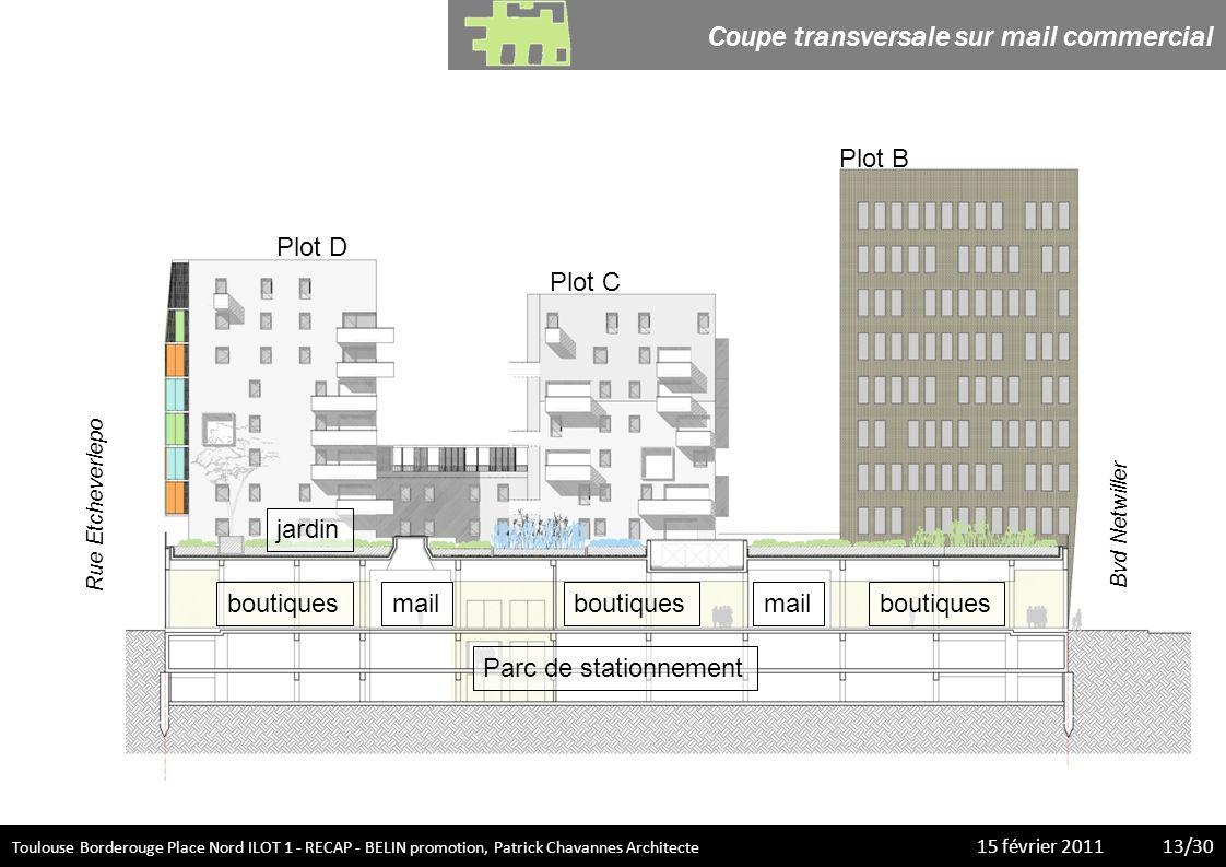 Toulouse Borderouge Place Nord ILOT 1 - RECAP - BELIN promotion, Patrick Chavannes Architecte 15 février 20113/20 Toulouse Borderouge Place Nord ILOT