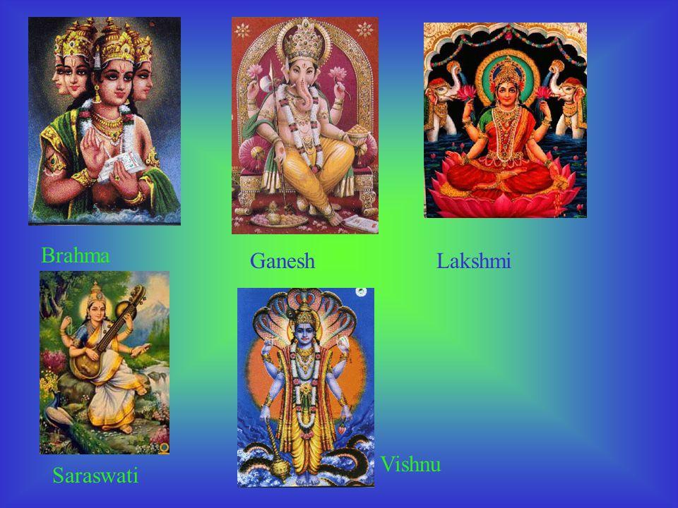Krishna est représentée toujours à la peau bleue et jouant de la flûte. Elle est le dieu champêtre de lamour et du jeu. Durga est la déesse qui symbol