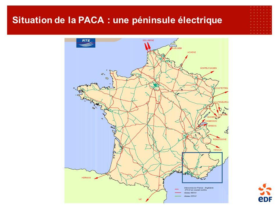 Situation de la PACA : une péninsule électrique