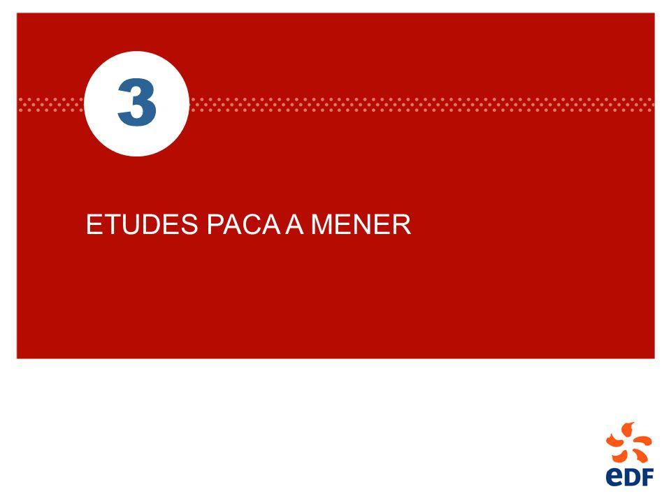 3 ETUDES PACA A MENER