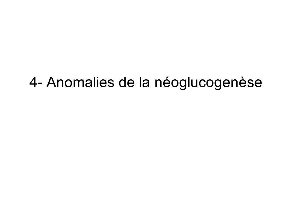 4- Anomalies de la néoglucogenèse