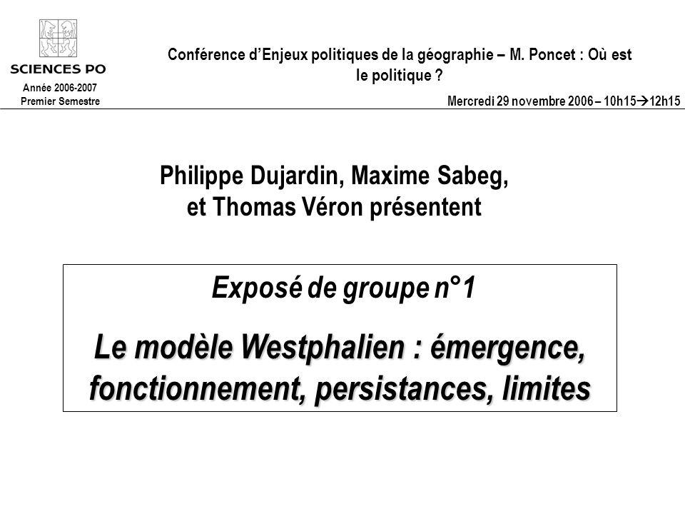 Conférence dEnjeux politiques de la géographie – M.
