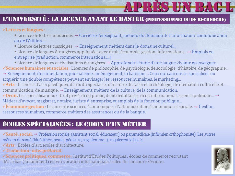 Les DUT (mais aussi les licences professionnelles et le master pro journalisme) de luniversité Bordeaux 3 ont une orientation littéraire tout à fait intéressante : http://www.iut.u-bordeaux3.fr puis cliquez sur « Formation initiale » :